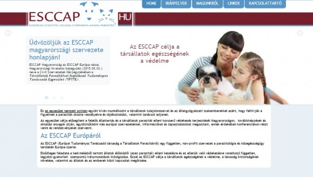 New website for ESCCAP Hungary